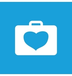 Cardiology toolbox icon white vector