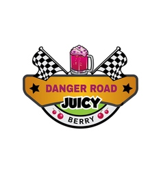 Road logo danger vector