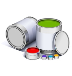Different metal bright cans vector