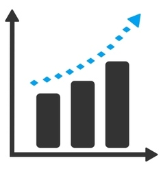 Dotted positive trend toolbar icon vector