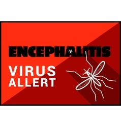 Encephalitis virus allert outline vector