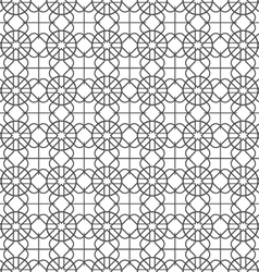Monochrome seamless pattern in arabic motif vector