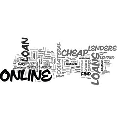 A guide to cheap loans online text word cloud vector
