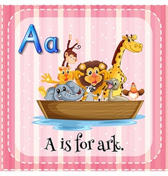 A letter a for ark vector