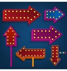 abstract direction arrows and bunners vector image