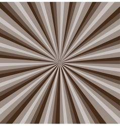 Brown rays background vector image vector image