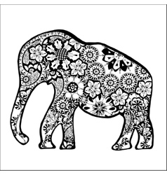 Carved elephant vector image