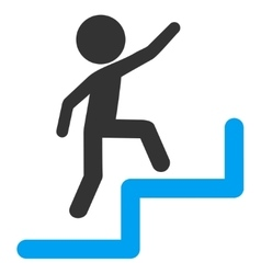 Child steps upstairs icon vector