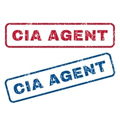 Cia agent rubber stamps vector