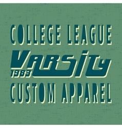 College vintage stamp vector image vector image
