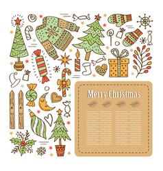 Design of a christmas card vector