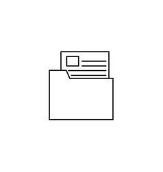 Document in folder documentation icon vector