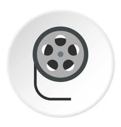 Film reel icon flat style vector