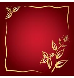 Flower frame card vector image vector image