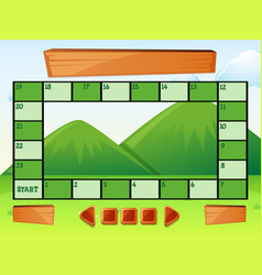 Game template with mountains in background vector