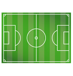 green soccer field background a realistic vector image vector image