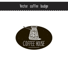 Hand drawn coffee brand design element vector image