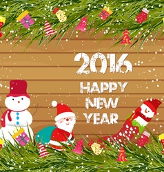 Happy new year 2016 christmas background with vector image vector image