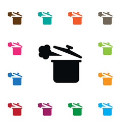 isolated saucepan icon lid element can be vector image