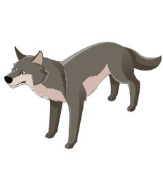 Isometric wolf icon vector image