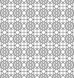 Monochrome seamless pattern in arabic motif vector