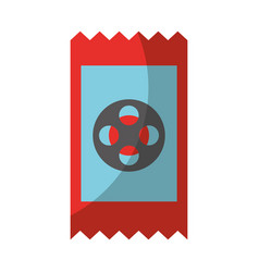 movie ticket isolated icon vector image vector image