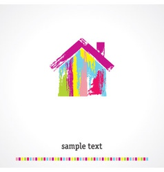 Multicolored home vector image