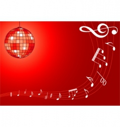 music background with disco ball vector image