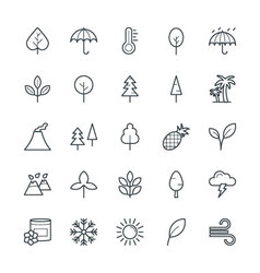 Nature cool icons 1 vector