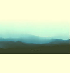 Ocean waves twilight misty seascape background vector
