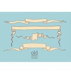 old banners vector image