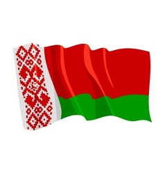 political waving flag of belarus vector image vector image
