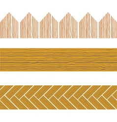 seamless wood border vector image vector image
