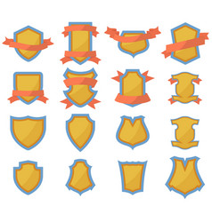 set of shields logo vector image vector image