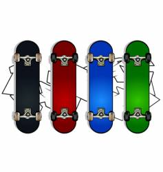 set of skateboards vector image vector image
