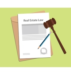 Signing legal concept of real estate law vector