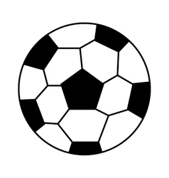 soccer sport ball equipment icon vector image