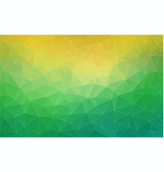 Triangle green and yellow gradient banner vector