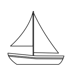 Isolated sailboat design vector