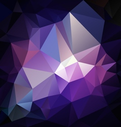 dark purple violet polygon triangular pattern vector image
