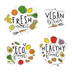 Eco label color vector image