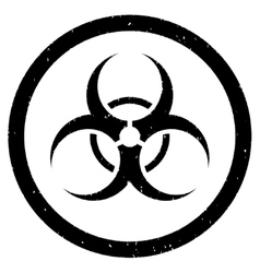 Bio hazard rounded grainy icon vector