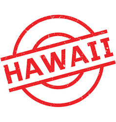 Hawaii rubber stamp vector