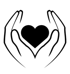 Icon - hands holding heart vector