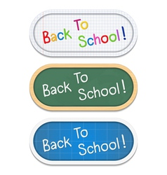 Back To School Banners vector image