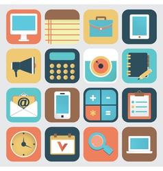 Set of application of social media vector image