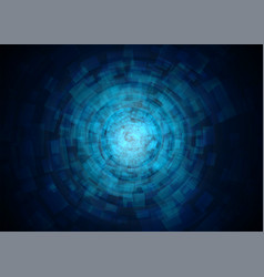 Abstract technology tunnel vector