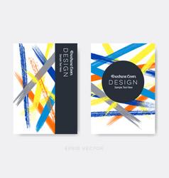 brochure cover design grunge brush strokes vector image