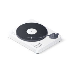3d white turntable vector image