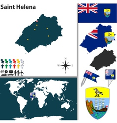 Saint helena island map world vector